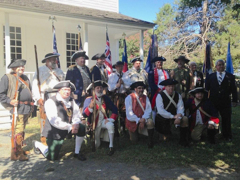 NCSSAR members celebrate the 234th Anniversary of the House in the Horseshoe in Moore, NC on August 1 2015.