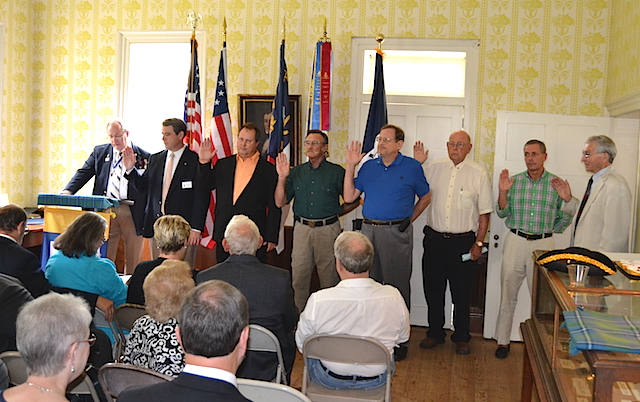 COL Alexander Erwin chapter of the North Carolina SAR receives its chapter charter on September 12 2015 in Morganton, NC.