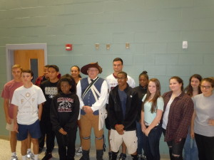 Ken Wilson with NCHS AP History Class