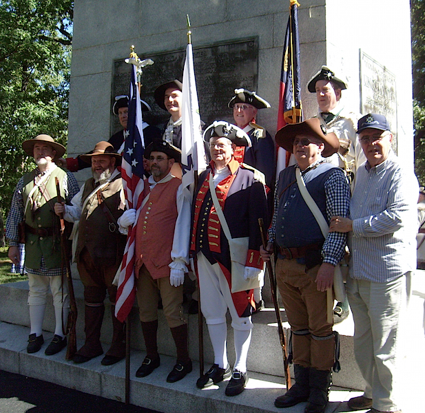 SAR members gather at the Battle of Kings Mountain state park monument on October 7 2015.