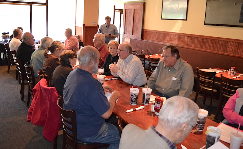 Mecklenburg chapter SAR members enjoy a social lunch in Charlotte on October 22 2015.
