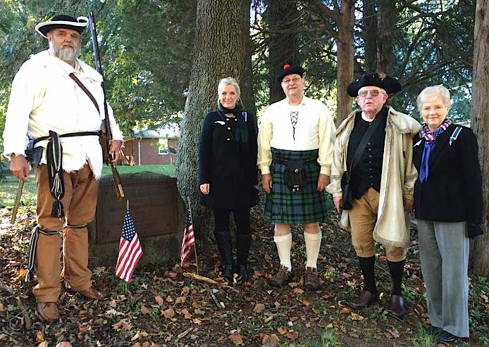 Participants from the Yadkin Valley chapter, along with Jim Tatum from the Mecklenburg chapter, pose for a photo.