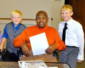 Cade and Chase with Mr. Pope