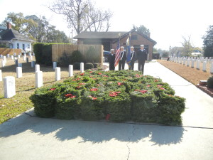 The over 540 wreaths to be laid on gravestones.
