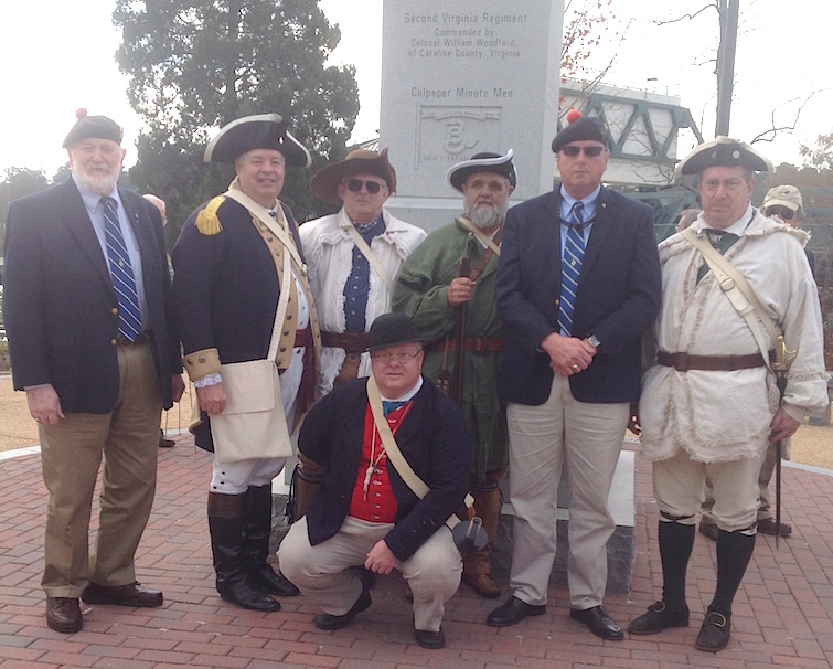 Members of the North Carolina SAR participate in the Battle of Great Bridge on December 5 2015.