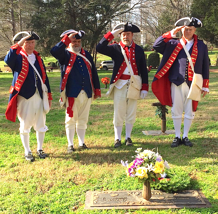 Mecklenburg chapter members render honors during the Wreaths Across America event on December 12, 2015.