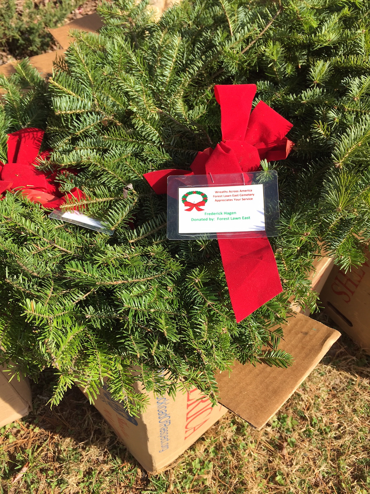 The Mecklenburg chapter participated in Wreaths Across American in Charlotte on December 12, 2015.