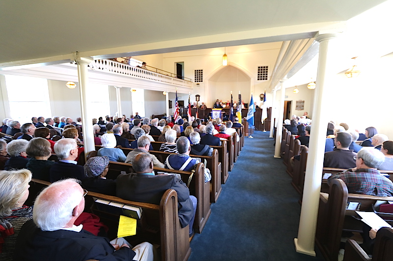 The indoor ceremony at the 235th Anniversary of the Battle of Cowan's Ford on January 30 2016.