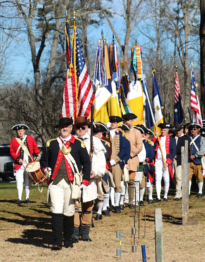 The National SAR Color Guard at the 235th Anniversary of the Battle of Cowan's Ford in Huntersville, NC on January 30 2016.