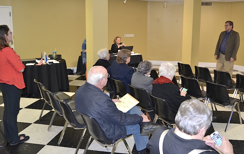 SAR Catawba Valley chapter president Jack Bowman kicks off the SAR and DAR Genealogy Workshop on February 20, 2016 in Lincolnton, NC.