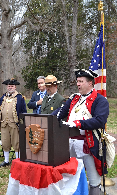 North Carolina SAR President Tim Berly addresses the gathering.