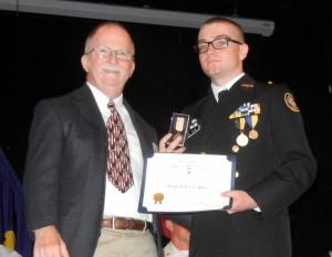 Gary Gillette and SAR JROTC Medal recipient Cadet Derek Flake