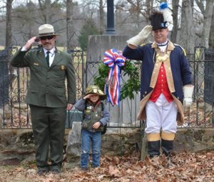 Superintendent John Slaughter, Jr Ranger Landen, and PG Mick Tomme