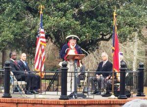 Gary O. Green presenting SAR proclamation at WAA Wilmington