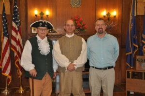 Grady Hall, Frank Merrell, Tim Nason at the Landis American Legion George Washington birthday event.
