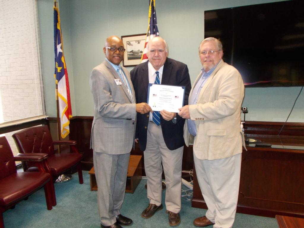Dr. Michael Elam, R.J. Myrick, Allen Purser
