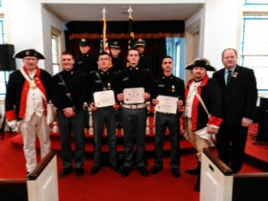 JROTC Medal and Flag Certificate recipients